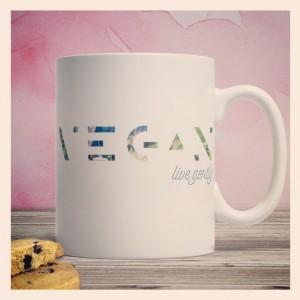 Vegan live gently - mug