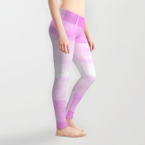 Little pink strokes - yoga pants
