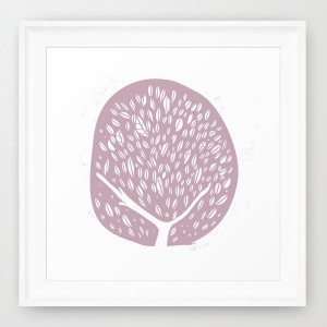Tree of life, lilac - framed print