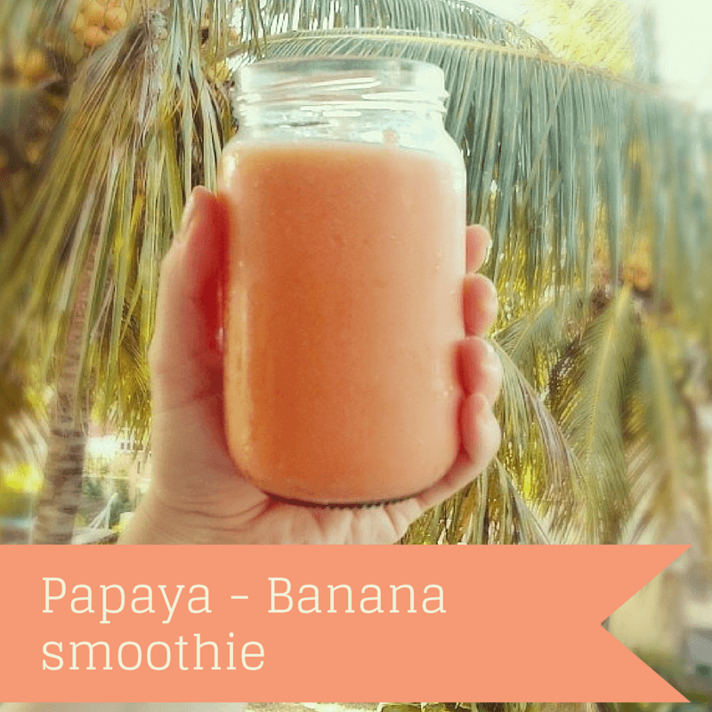 vegan papaya banana smoothie big