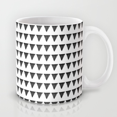 Nordic interior triangles II Mug