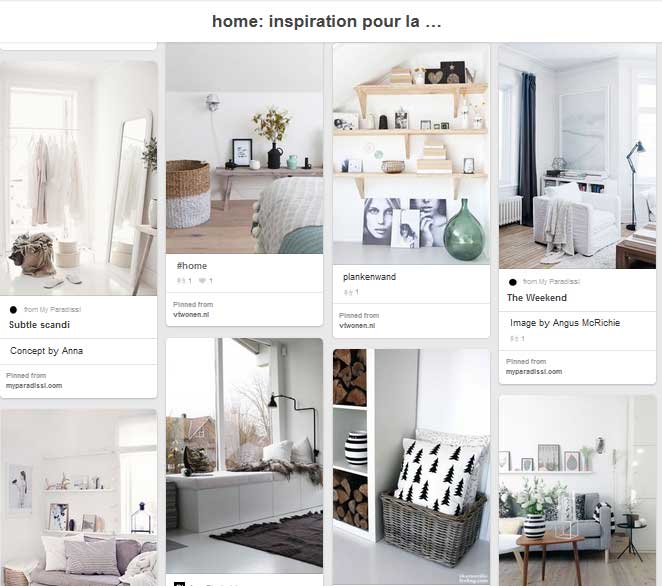 Pinterest interior design board