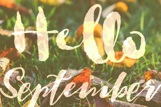 Hello September! free smartphone wallpaper
