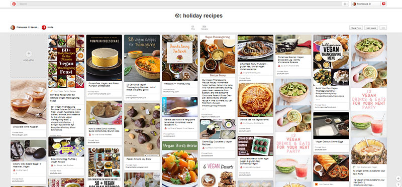My Ⓥ: holiday recipes Pinterest board. Hundreds of more holidays recipes are waiting to be discovered!