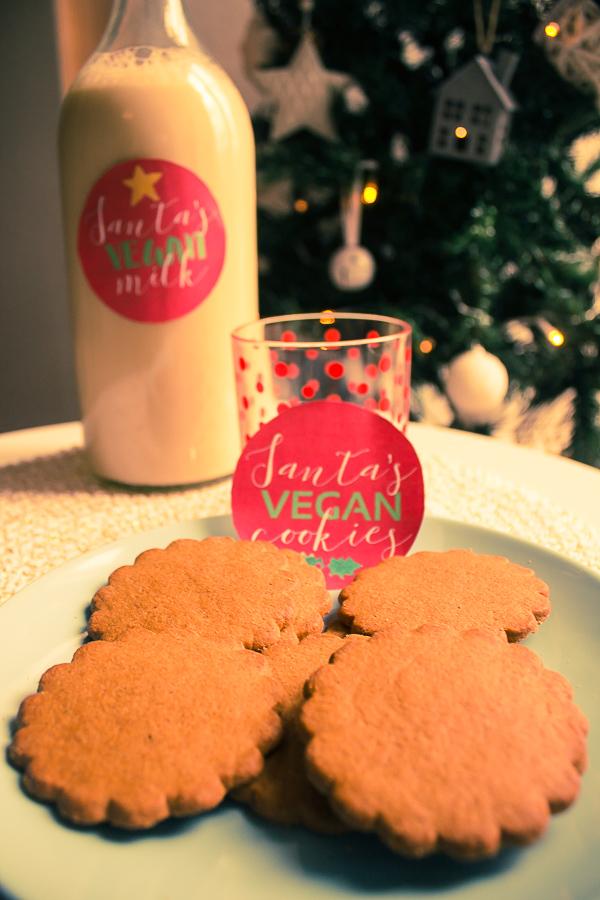 Free printables: Santa's Vegan milk & cookies