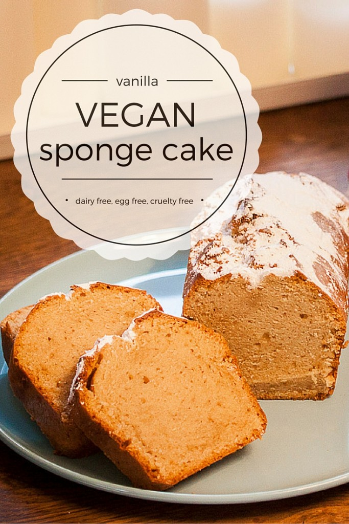 Vanilla vegan sponge cake