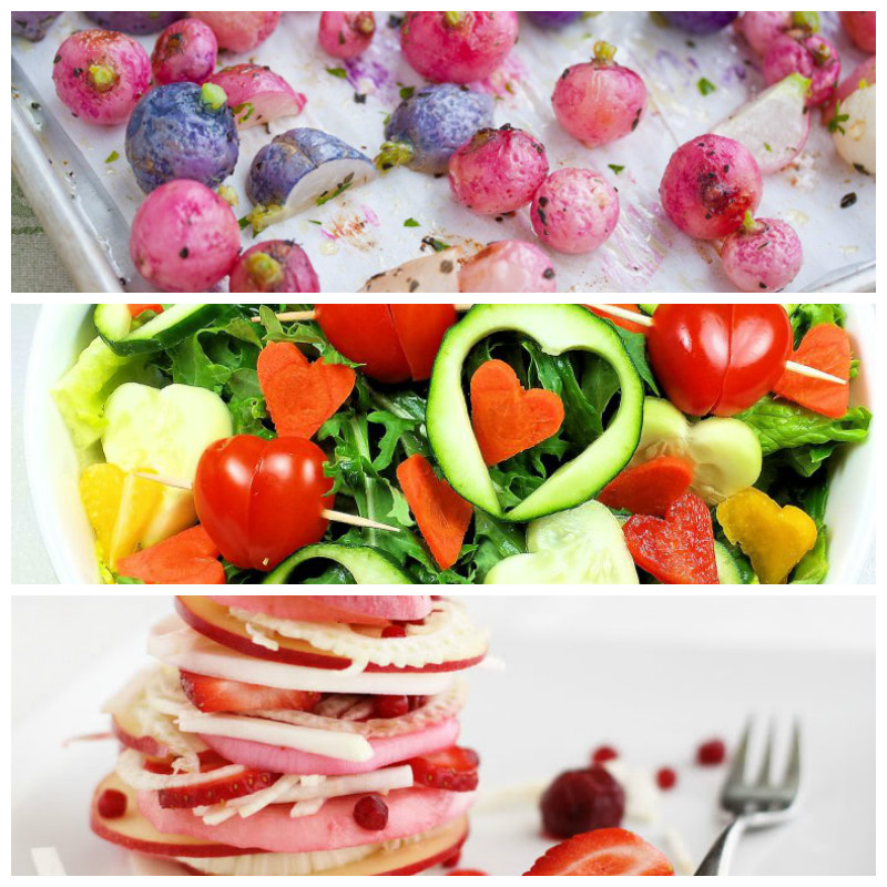 Valentine's Day Vegan recipes roundup salads & side-dishes