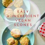 easy 4 ingredient vegan scones
