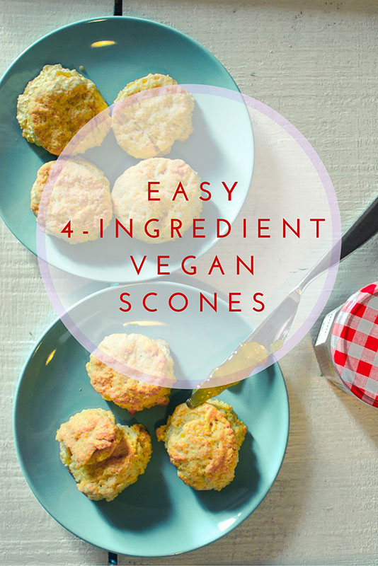 easy 4 ingredient vegan scones