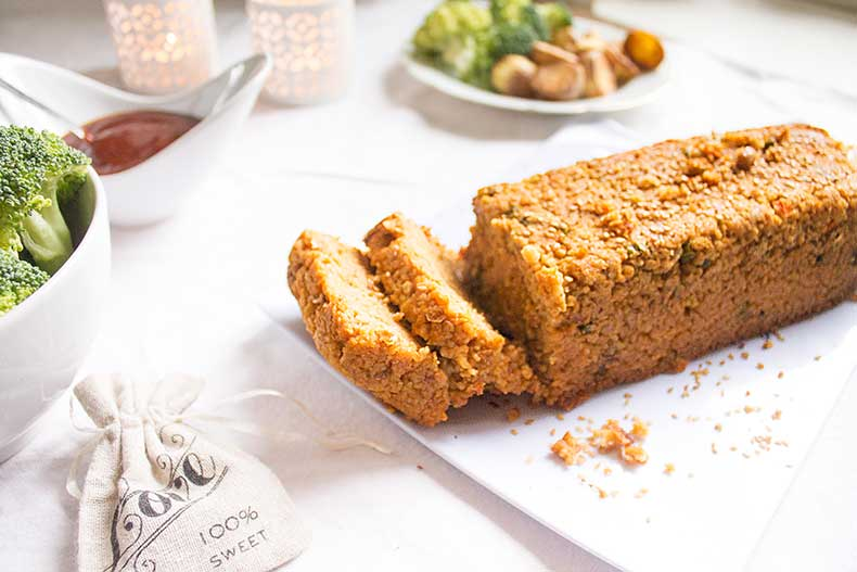 Perfect holiday lentil loaf
