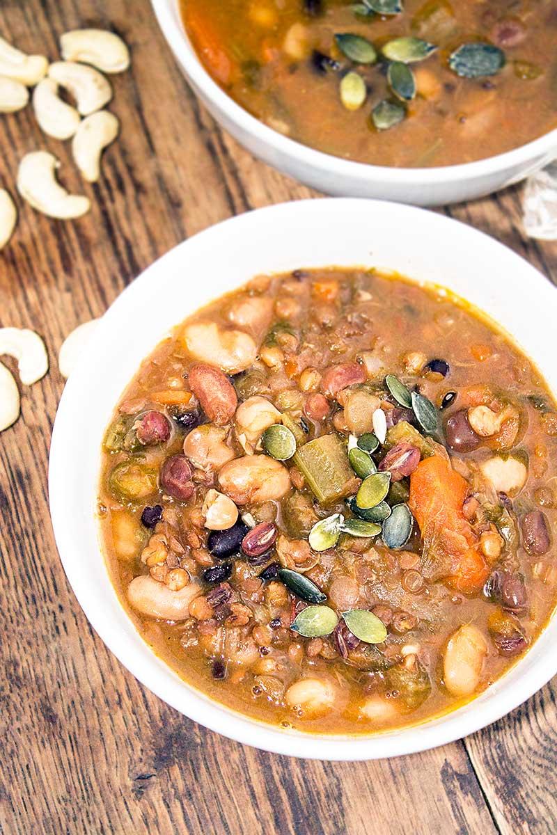 Italian Bean Soup - Vegan