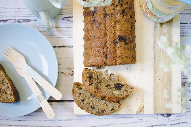 Coconut-Banana bread (one-bowl, Vegan)