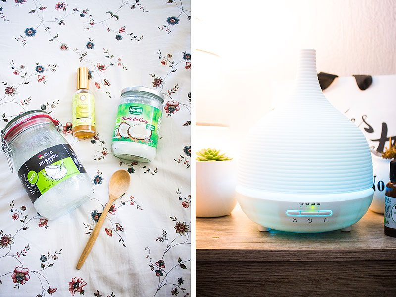 Spring pamper routine: hair oils and diffuser