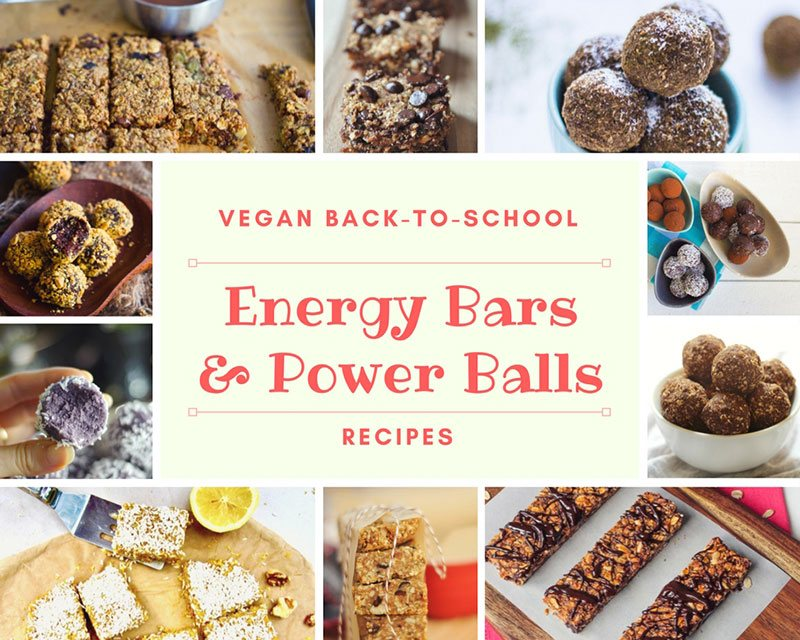Epic Vegan Back to School recipes: ENERGY BARS & POWER BALLS