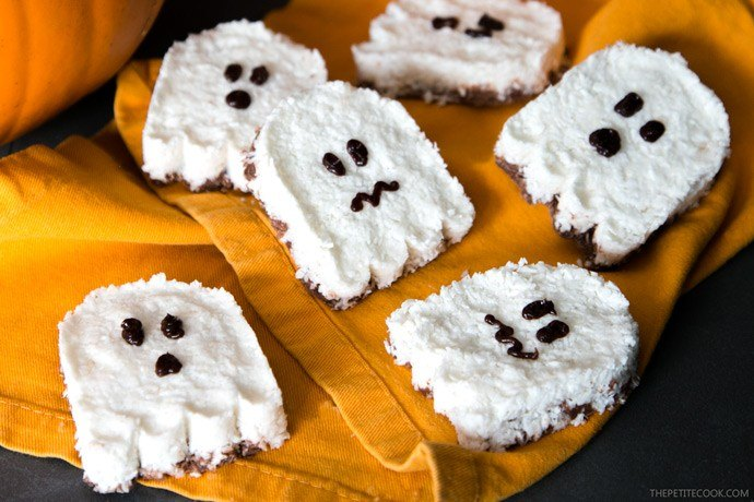 Spooky Ghost Vegan Bounty Bars