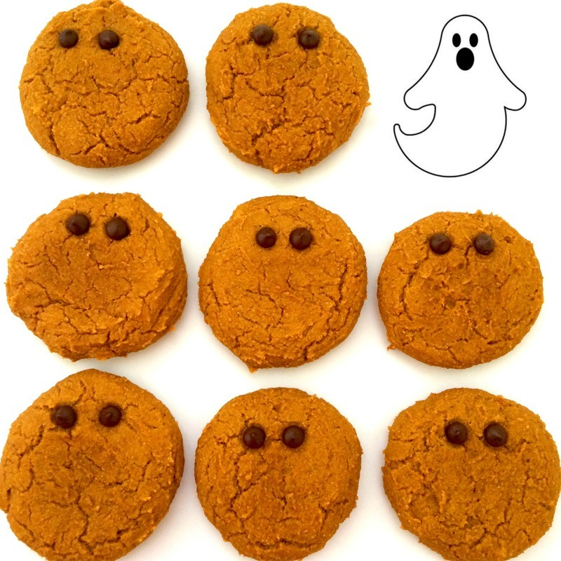 Pumpkin Halloween Ghost Cookies