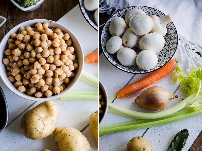 Mushroom Chickpea Minestrone-ingredients
