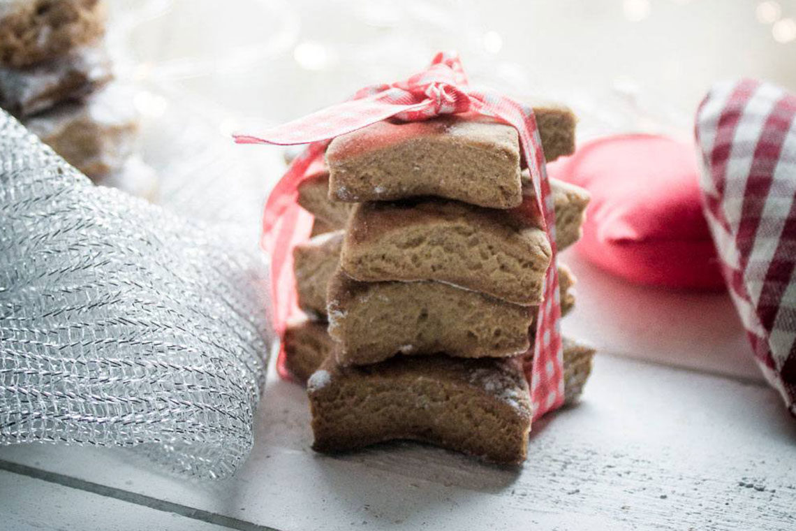 Rustic Vegan christmas cookies