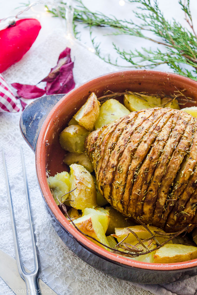 Holiday Vegan roast - cheap, succulent and festive!