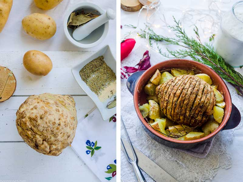 Here's a recipe for a festive, decadent, yummy Vegan Holiday Roast that will please everybody at your holiday table. Can you guess what the 1 ingredient is?