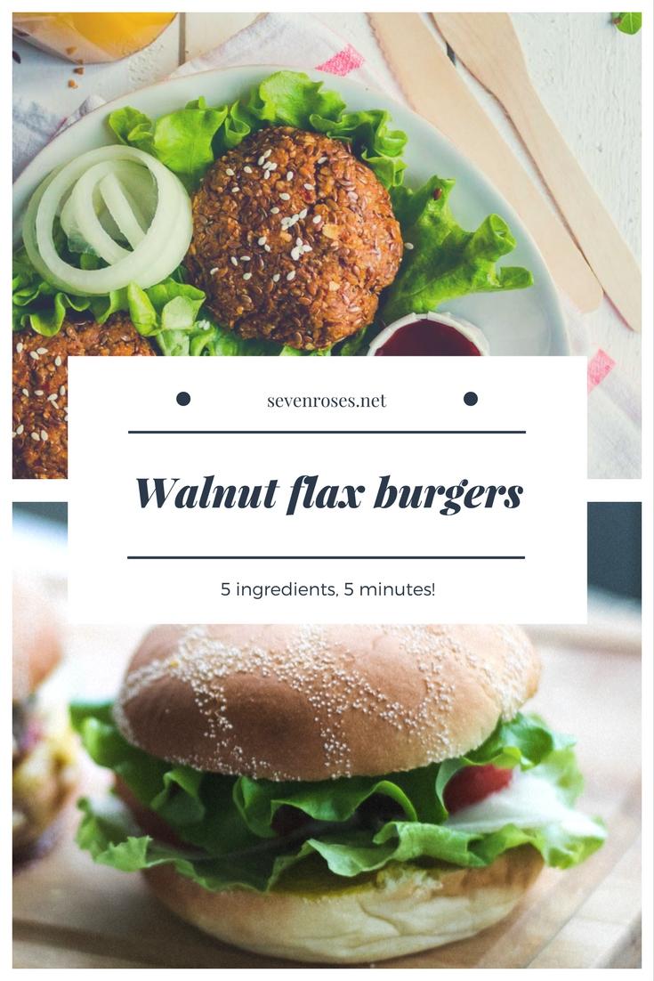 Walnut flax burgers