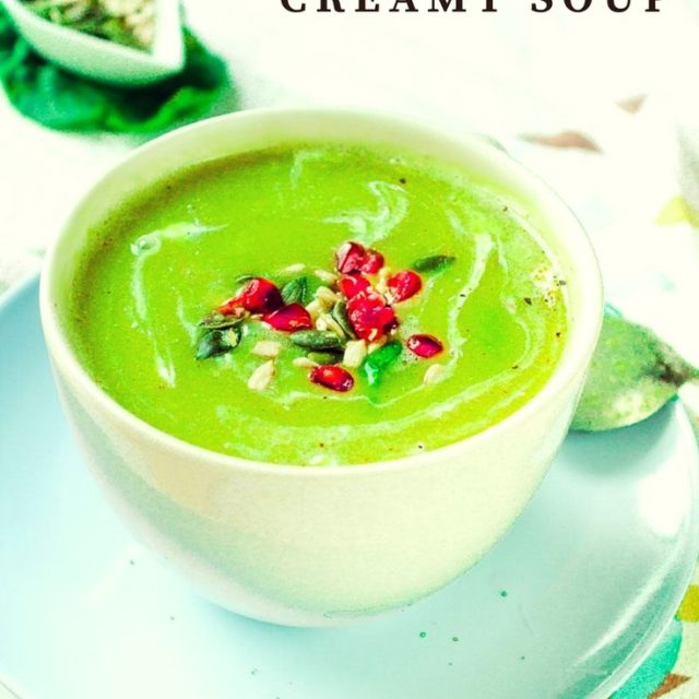 Split Pea and Spinach creamy soup