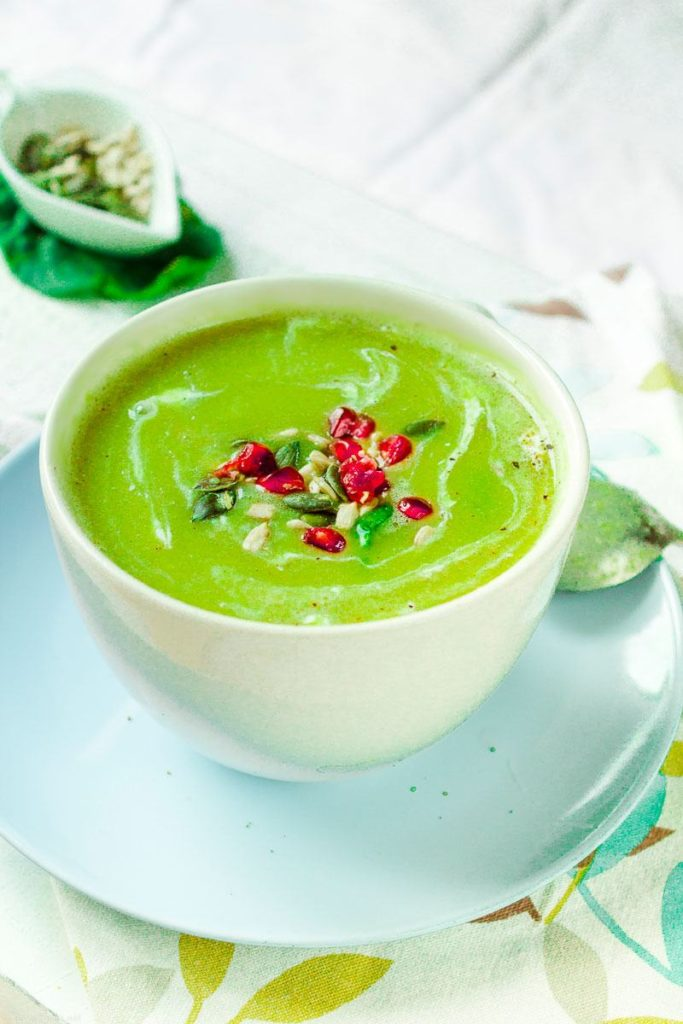 Vegan Split Pea and Spinach soup