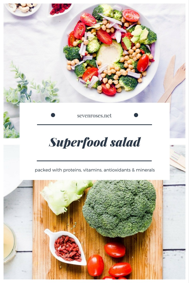 This Superfood Salad is packed with proteins, vitamins, antioxidants and minerals. The perfect quick and healthy meal to boost you for the day!