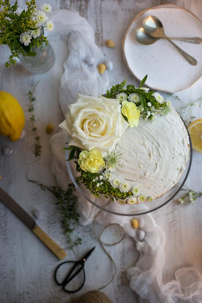 Vegan Lemon And Thyme Cake
