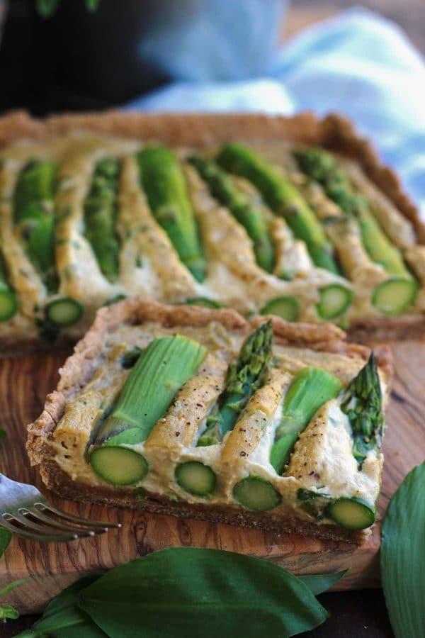 Asparagus Vegan Quiche