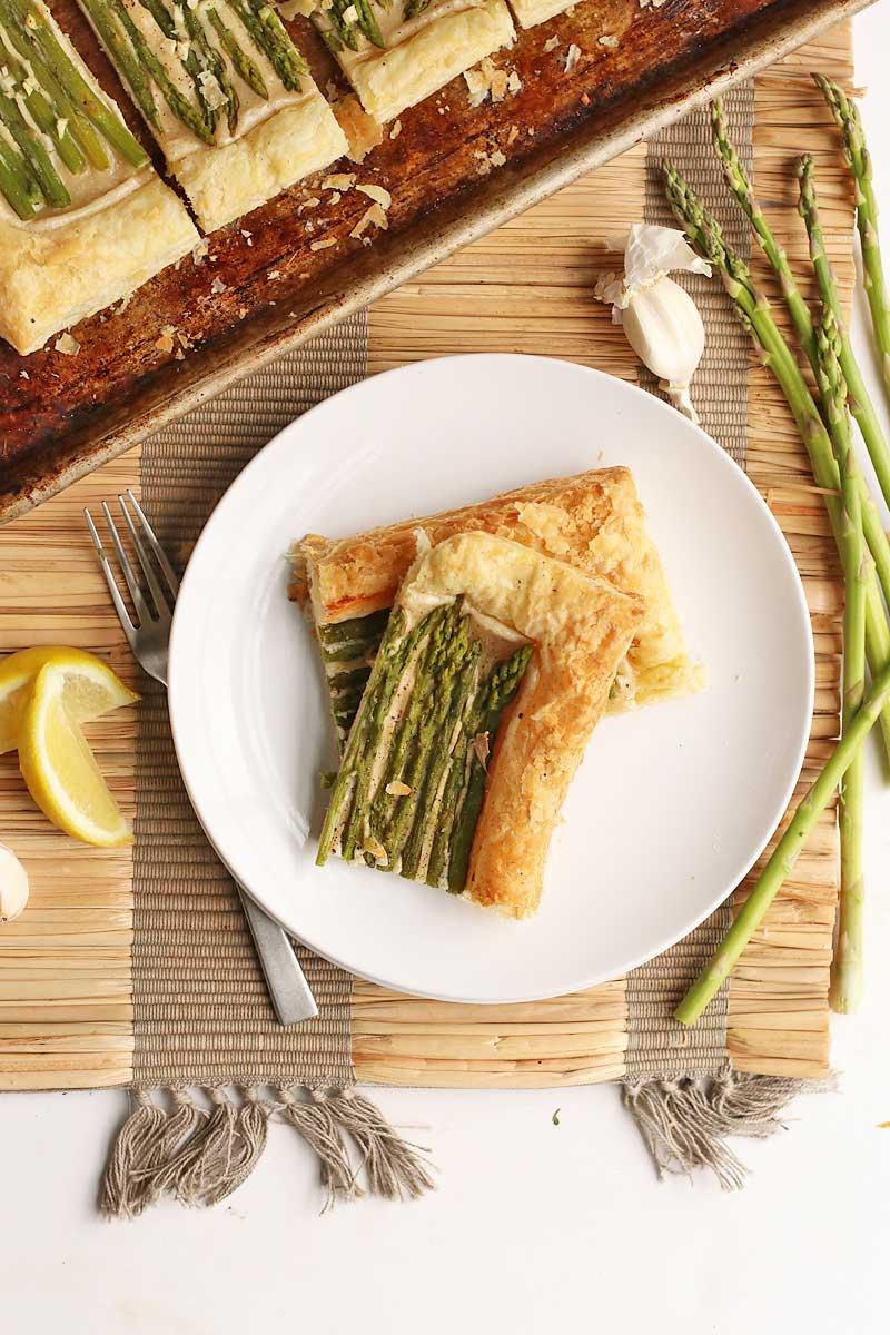 Vegan Asparagus and Cashew Cream Tart
