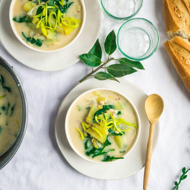 Colcannon-inspired Vegan Potato soup