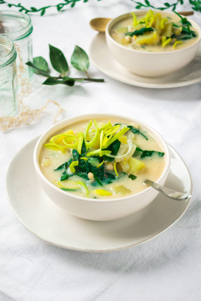 Colcannon-inspired Vegan Potato soup