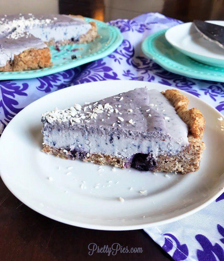 Deep Dish Frosted Blueberry Tart {Vegan, Paleo, Sugar-Free}