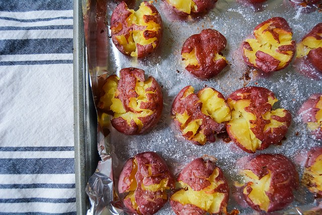 "Simple ""Smashed"" Baked Baby Potatoes"
