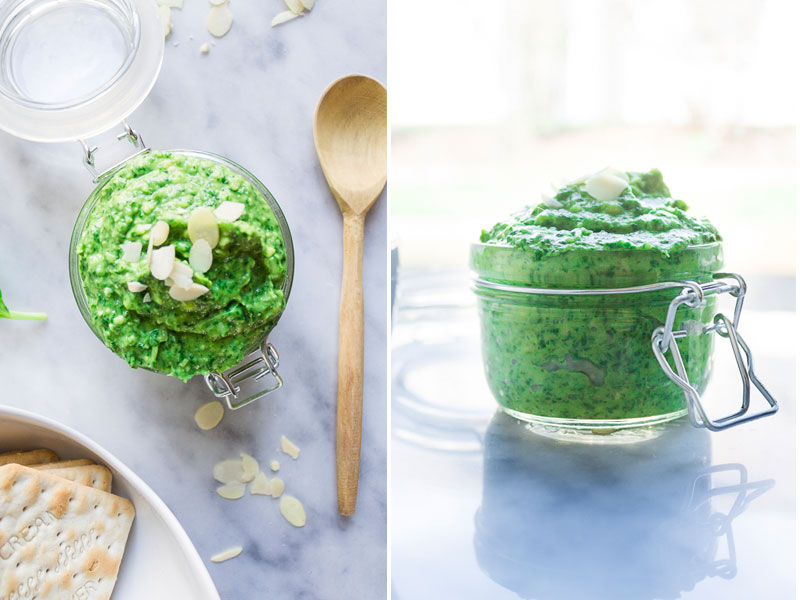 Lightened Up Pesto : Creamy Spinach Avocado Basil Pesto Recipe
