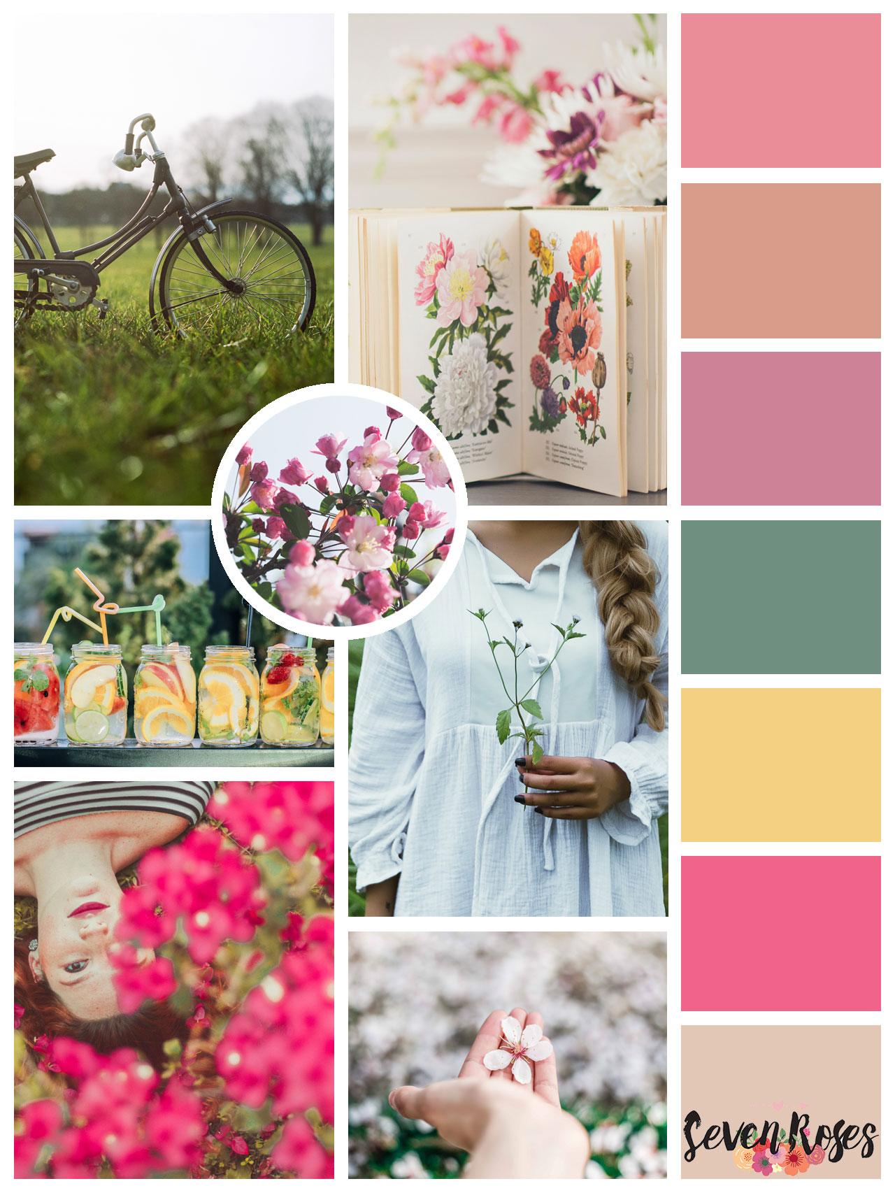 Spring moodboard + color palette