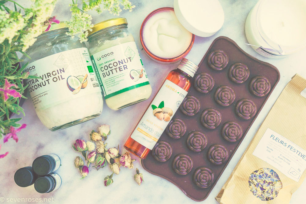 DIY coconut body lotion bar ingredients