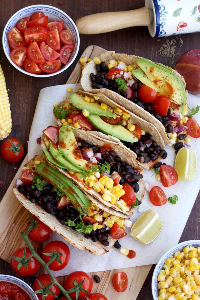 5-minute Easy Vegan Tacos