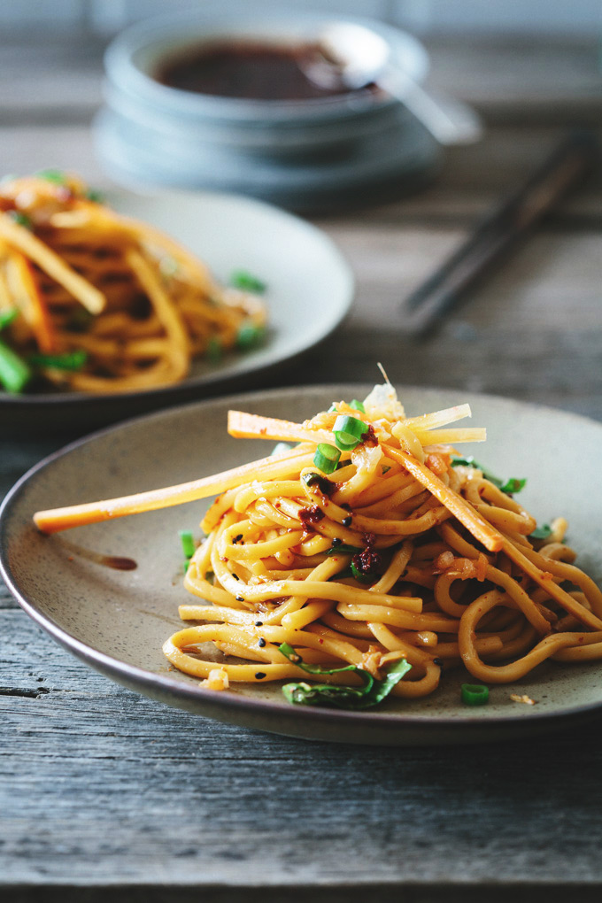 SPICY 10-MINUTE KIMCHI NOODLE SALAD