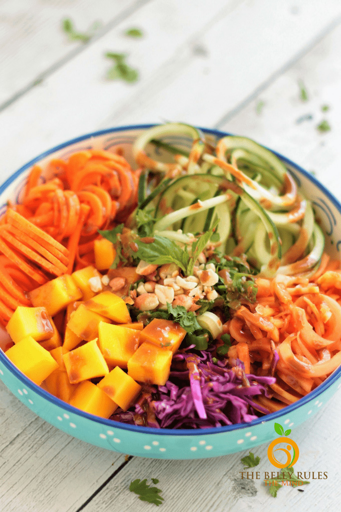 RAINBOW THAI SPIRALIZED SALAD (V+GF)