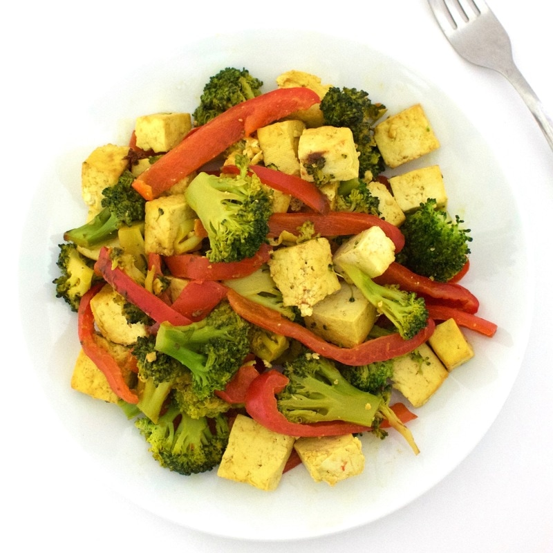 Broccoli, Red Pepper & Tofu Stir Fry (Vegan, Gluten-Free, High-Protein!)