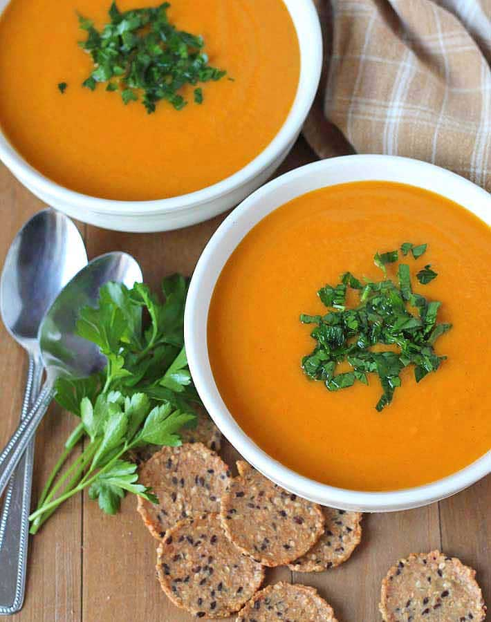 Butternut Squash Sweet Potato Carrot Soup