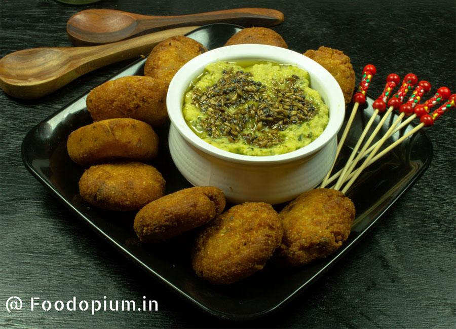 Semolina Chickpea flour cutlets