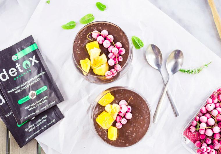 Superfood Chocolate chia pudding