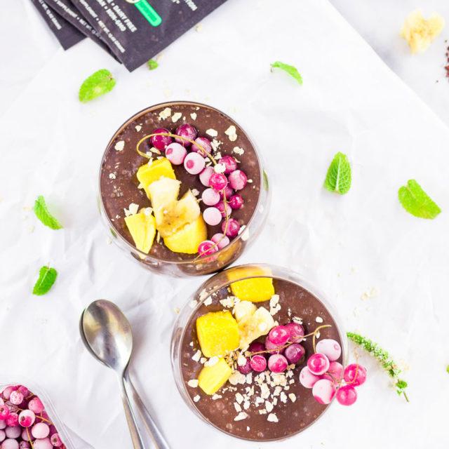 Superfood Chocolate-chia pudding featuring Detox Organics