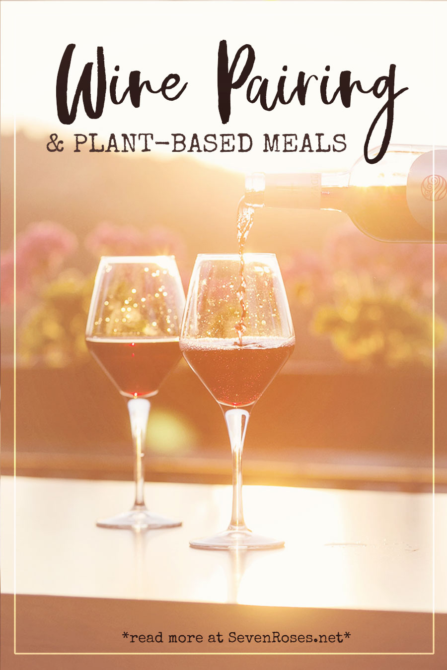 Wine pairing and plant-based meals