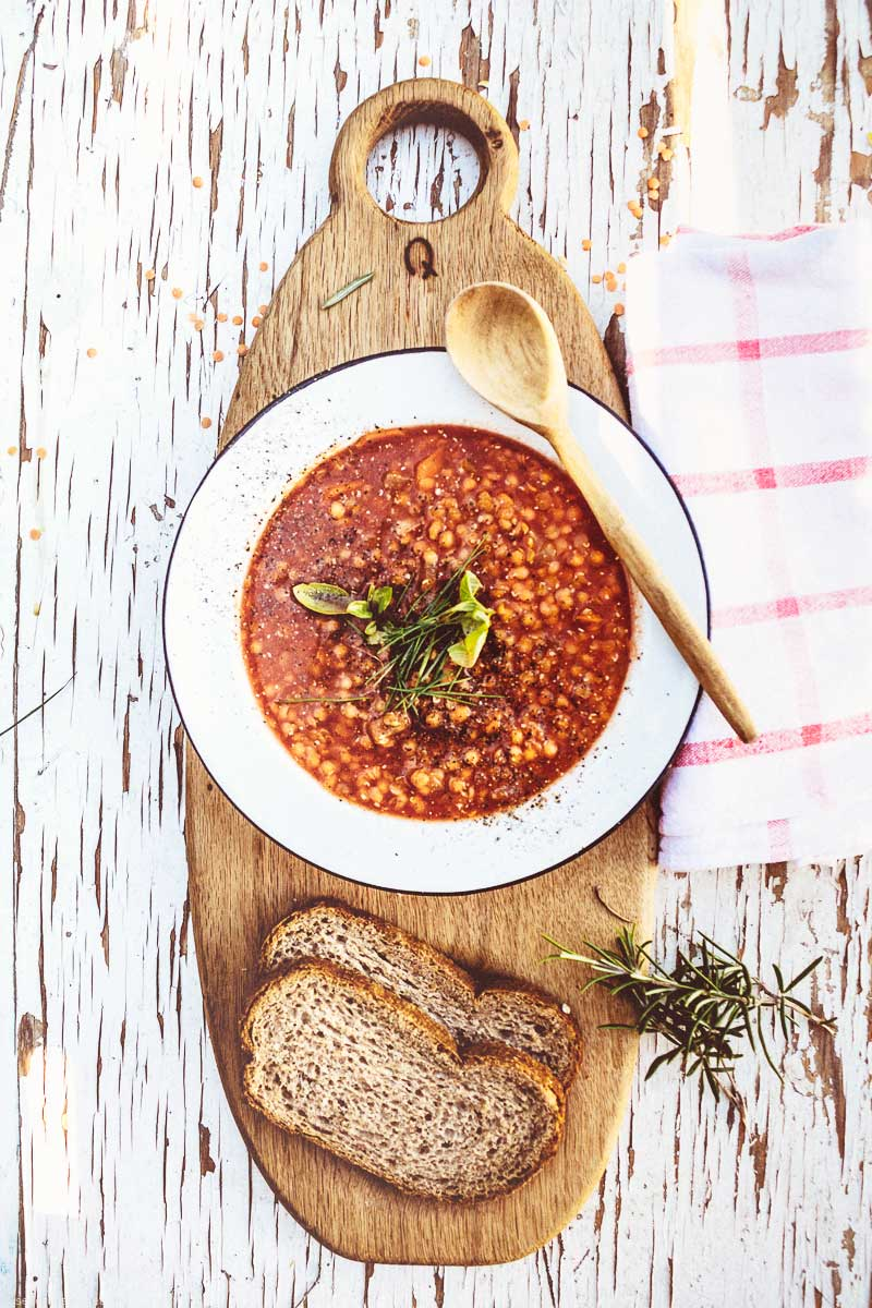 Hungarian red lentil soup
