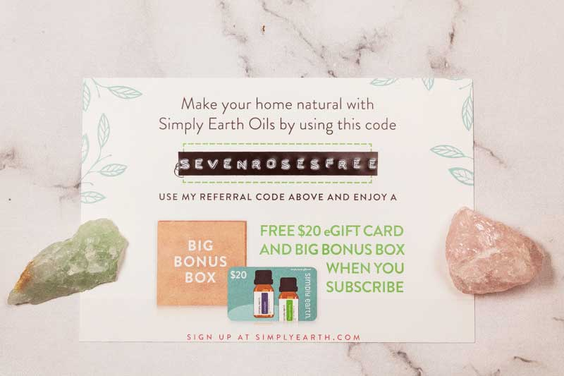 Simply Earth Essential Oil box COUPON CODE
