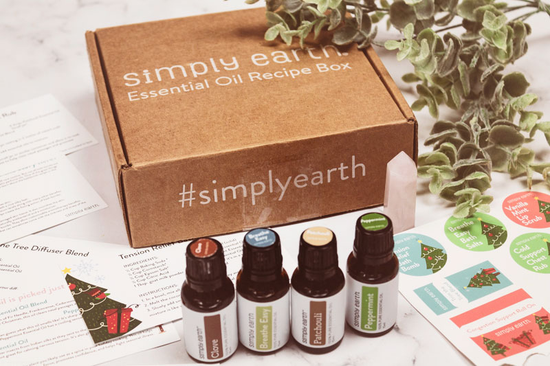 Simply Earth Essential Oil recipe box unboxing + Promo Code!